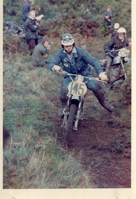 Photo of #145 Tony Down passing # ISDT 1971