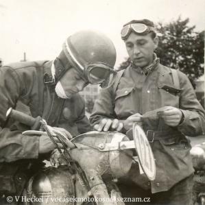 photo - #127 Jaromir Cizek 248 Jawa Czechoslovakia Silver medal ISDT 1955 (©V Heckel)