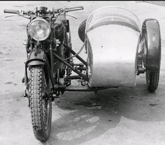 Photo of motocycle sidecar believed to be ISDT 1938