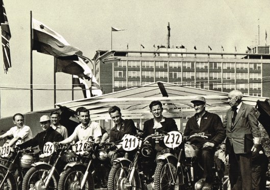 Photo - British Trophy team in Czechoslovakia ISDT 1959 (Colin Moram collection)