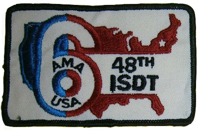 Photo - AMA Cloth Badge ISDT 1973