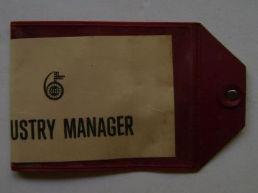 Photo - team managers armband ISDT 1977