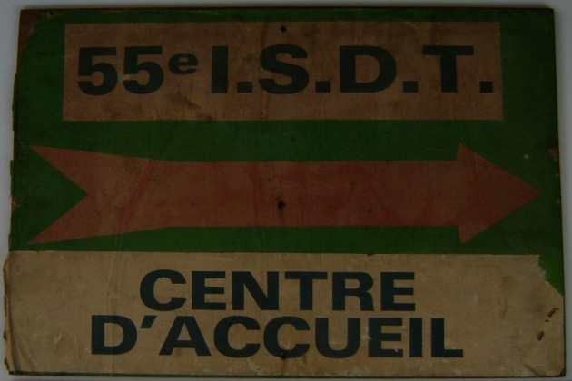 Photo - registration direction board ISDT 1980