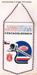image - promotional pendant Team Jawa ISDT 1972