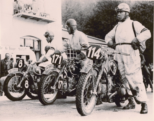 Photo - Joseph Müller winner of the ISDT 1935 (Courtesy Metzeler Tyres)