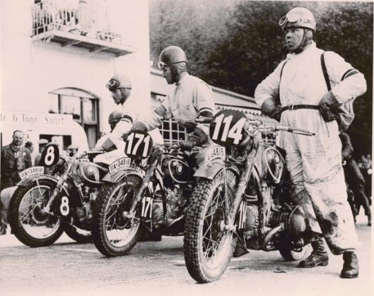 Photo - Joseph Müller winner of the ISDT 1935 (Courtesy Metzeler Tyres)