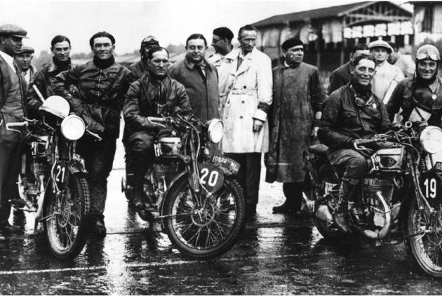 Photo - Sinistra, Grana, Maffeis, Gilera ISDT 1931