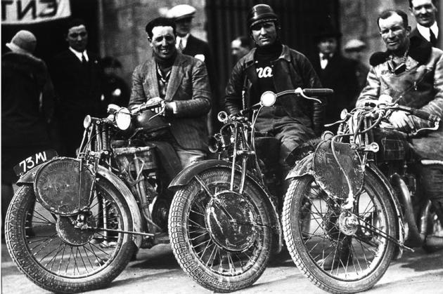 Photo - Dasx, Fieschi, Maffeis, Cavallieri - ISDT 1931