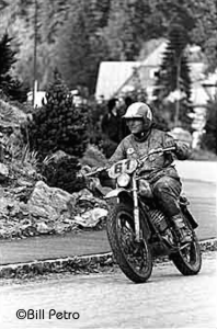 New York rider Bren Moran during the Czechoslovakian ISDT 1972