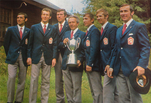 Photo of Czechoslovakian Trophy Team who won the ISDT 1973