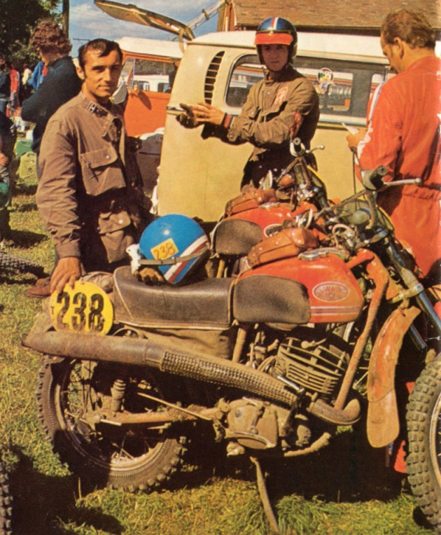Photo of #238 Kvetoslav Masita of the victorious Czech Trophy Team ISDT 1973