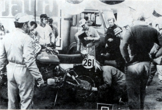 Photo - #261 Zloch of the Czech Trophy team ISDT 1978