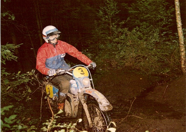 Photo #3 Arnulf Teuchert on GS50Hercules ISDT 1978 (courtesy Arnulf Teuchert)