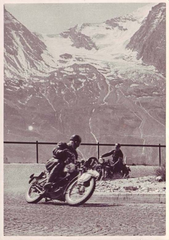 Riders racing on the Grossglockner in 1939 on the Alpenfahrt (salvaged from eBay)