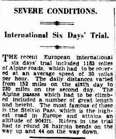 Image - article appearing in the Brisbane Courier Queensland, Australia 22 Oct 1931 ISDT 1931