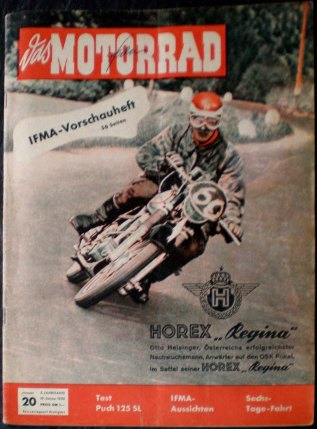 image - cover of Das Motorrad #20 19 Oct 1952 report on ISDT 1952