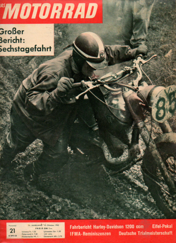 image - cover of Das Motorrad #21 13 October 1962 reports on the ISDT 1962