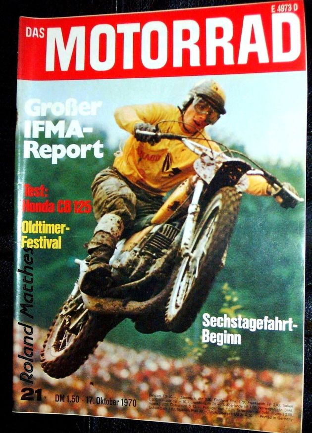image - cover Das Motorrad #21 17 Oct 1970 with opening report ISDT 1970