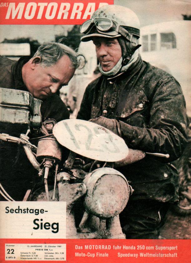 image - cover of Das Motorrad #22 25 Oct 1961