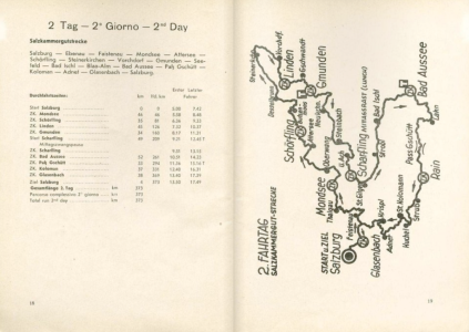 image - scanned map and checkpoint details for day 2 ISDT 1939