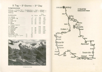 image - scanned map and checkpoint details for day 3 ISDT 1939