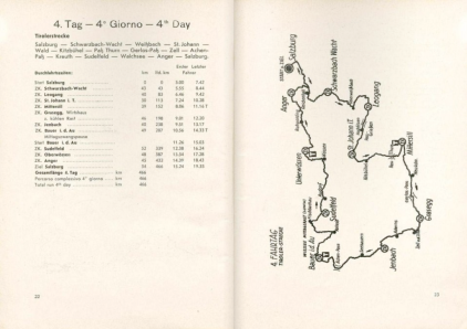 image - scanned map and checkpoint details for day 4 ISDT 1939