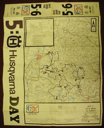 Image - scanned copy of  course route map day 5 ISDT 1973