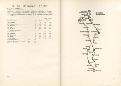 image - scanned map and checkpoint details for day 5 ISDT 1939
