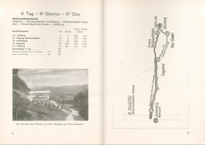 image - scanned map and checkpoint details for day 6 ISDT 1939
