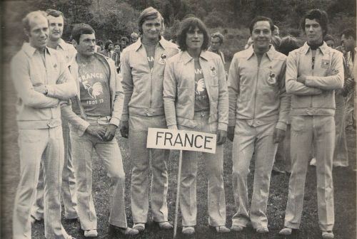 Photo of French Team at ISDT 1973