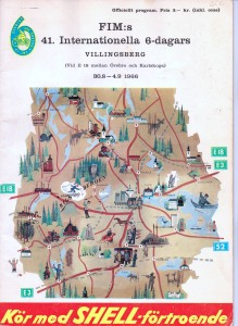 image - Front cover Programme 41st ISDT Villingsberg, Sweden 1966 (Courtesy Brian Catt)
