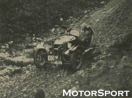 Photo - G H Goodall with Morgan ISDT 1926