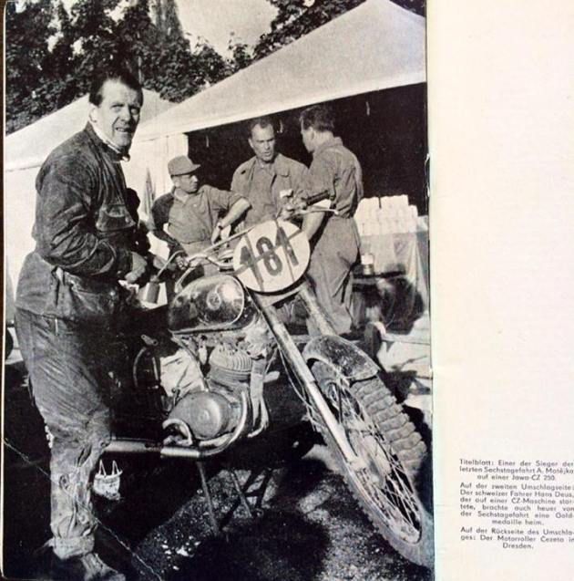 image - #181 Hans Deus CZ 125 of Switzerland ISDT 1959 (Courtesy Deus Family Collection)