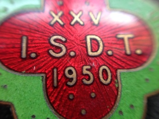 Lapel badge 25th ISDT 1950 (Speedtracktales Collection)