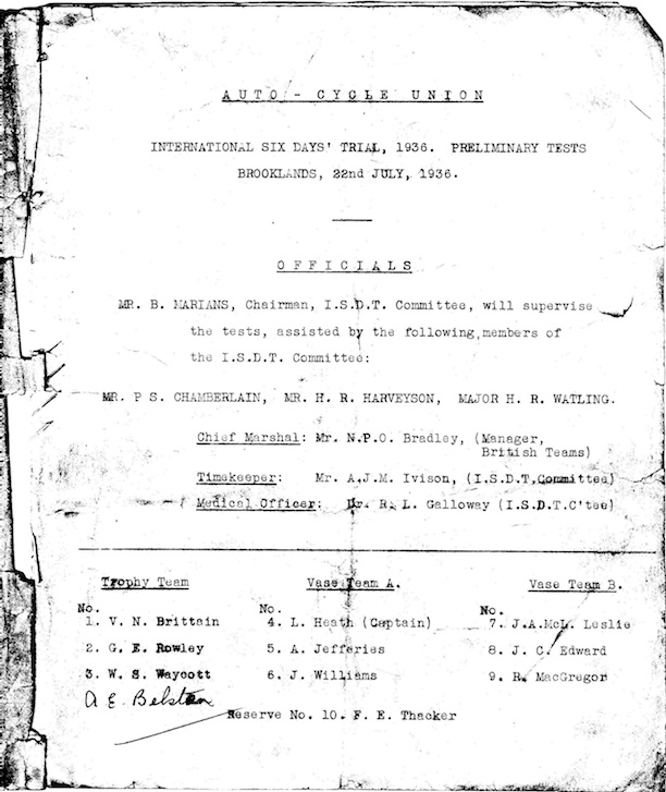 blah ISDT 1936