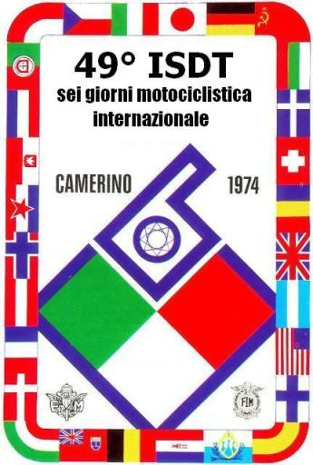 Photo - official event logo ISDT 1974