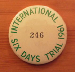 Photo of Competitors ID badge #246 ISDT 1961