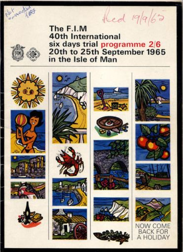 Image - cover of official event programme of the 40th ISDT 1965