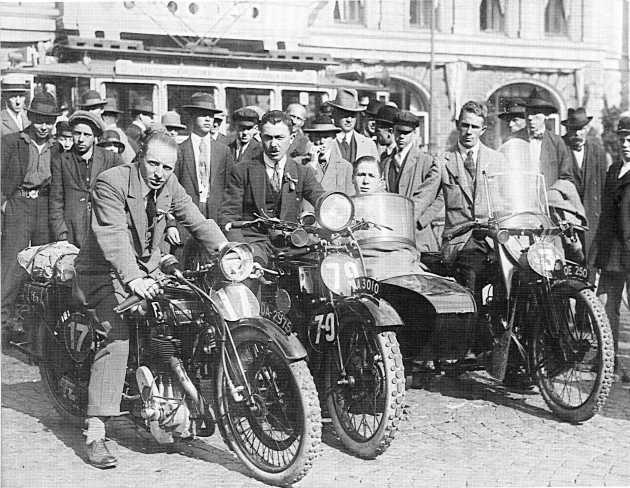 Photo of English Trophy Team at ISDT 1923