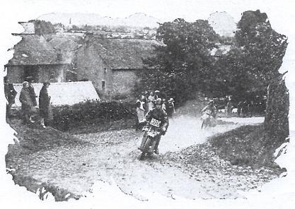 Image of #100 H van der Veen (Scott) and Y Ericsson (Husqvarna) on Bassenthwaite Hause ISDT 1927