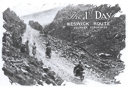 Image of riders on the the Honister Pass ISDT 1927 (image from STT collection)