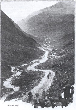 Image of rider ascending the Honister Pass ISDT 1927