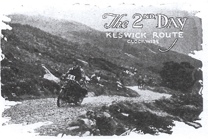 Image of rider ascending the Honister Pass ISDT 1927 (image from STT collection)