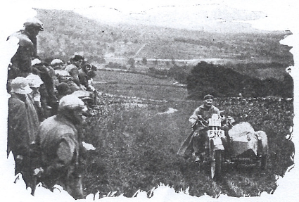 Image of B Malmberg (Husqvarna sc) on the grass track at Widewath ISDT 1927