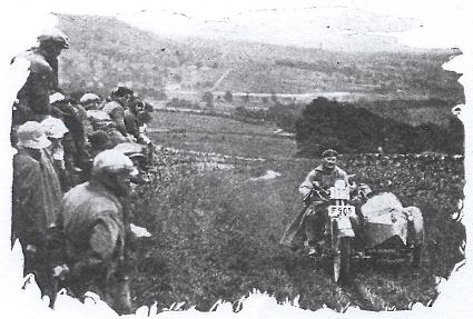 Image of B Malmberg (Husqvarna sc) on the grass track at Widewath ISDT 1927