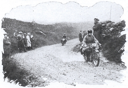 Image of rider ascending the Kirkstone Pass ISDT 1927 (image from STT collection)