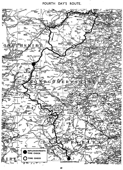Image of scanned copy of course map for Day 4 ISDT 1933
