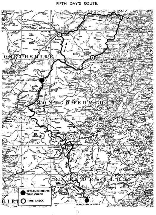 Image of scanned copy of course map for Day 5 ISDT 1933