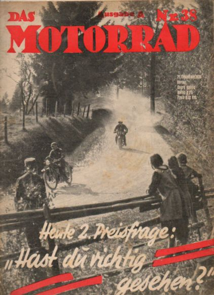 image - cover das Motorrad #38 ISDT review 1935