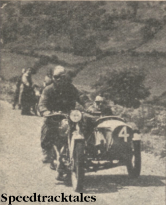 Photo of H R Taylor (497cc Ariel Sc) a gold medallist , snapped during Friday's run. ISDT 1937